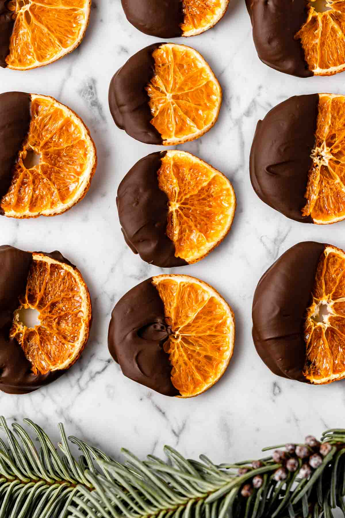 Chocolate Dipped Dried Satsuma Recipe for your holiday table