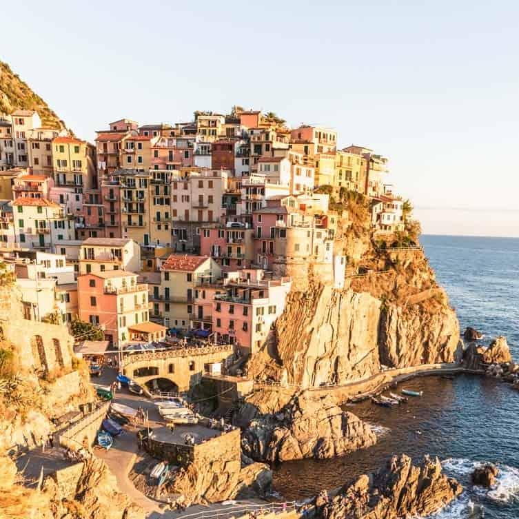 A view of Manarola in Cinque Terre, Italy